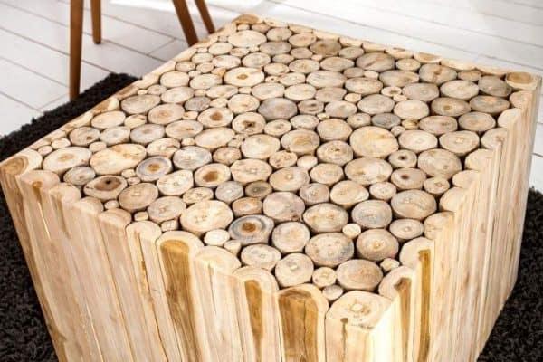 Konferenčný stolík Mosaik 60cm naplavené drevo