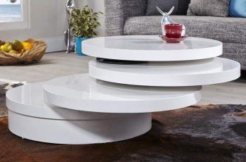 Konferenčný stolík Multi Puk biela