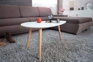 Konferenčný stolík New Fusion set 2ks - biela matná