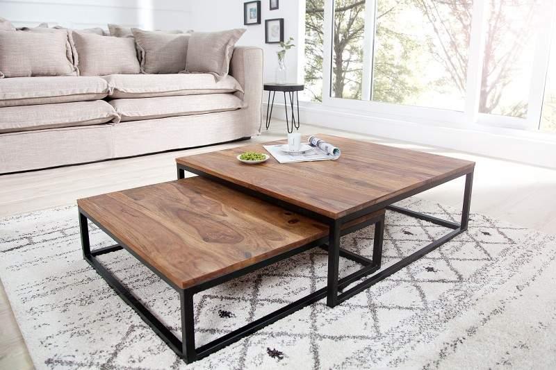 deae8ae39 Drevený konferenčný stolík Fusion set 2 ks » » iKuchyne ESHOP s nábytkom