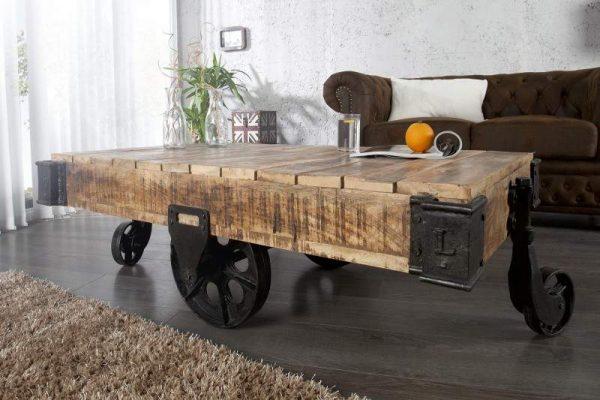 Konferenčný stolík Railway 120cm Mango