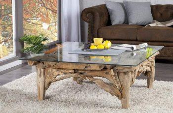Konferenčný stolík Riverside - naplavené drevo 100cm