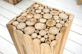 Konferenčný stolík Säule Mosaik 50cm naplavené drevo