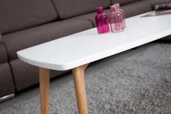 Konferenčný stolík Scandinavia 110cm biela
