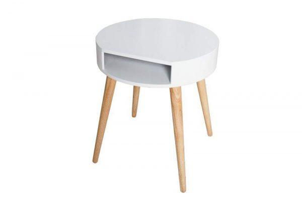 Konferenčný stolík Scandinavia biela Ablagefach