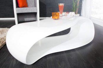 Konferenčný stolík Scandinavia set 2ks - biela vysokolesklá