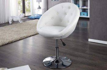 Kreslo Couture 85-100cm biela Fuß chróm