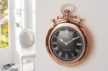 Nástenné hodiny Art Deco II 35cm - medené
