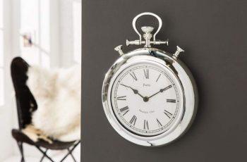 Nástenné hodiny Art Deco II 35cm - strieborné