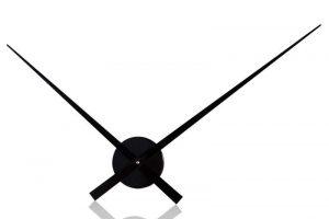 Nástenné hodiny Little Big Time  80cm - čierna