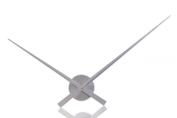 Nástenné hodiny Little Big Time  80cm - strieborná