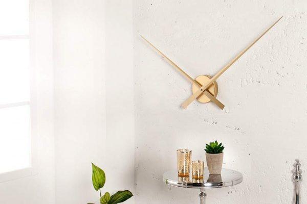 Nástenné hodiny Little Big Time zlatá 80 cm