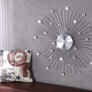 Nástenné hodiny Sunburst Kristall  49 cm