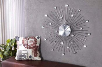 Nástenné hodiny Sunburst Kristall  49cm