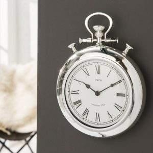 Nástenné hodiny Timeless 45cm - strieborná