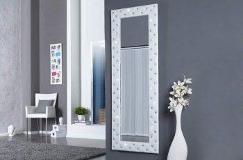 Nástenné zrkadlo Boutique 170cm biela umelá koža