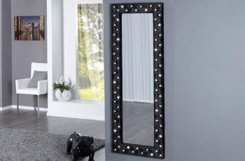 Nástenné zrkadlo Boutique 170cm - čierne