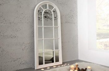 Nástenné zrkadlo Castillo 140cm sivá vintage biela