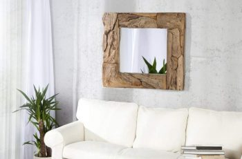 Nástenné zrkadlo piesok s 50cm naplavené drevo
