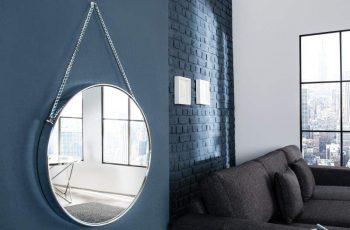 Nástenné zrkadlo Portrait 45cm - strieborná