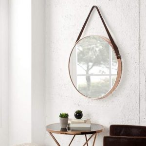 Nástenné zrkadlo Portrait medená 45 cm