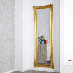 Nástenné zrkadlo Skinny 180cm - zlaté