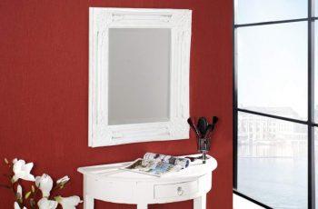 Nástenné zrkadlo Speculum biela 45 x 55 cm