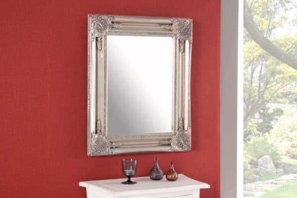 Nástenné zrkadlo Speculum strieborná 45 x 55 cm
