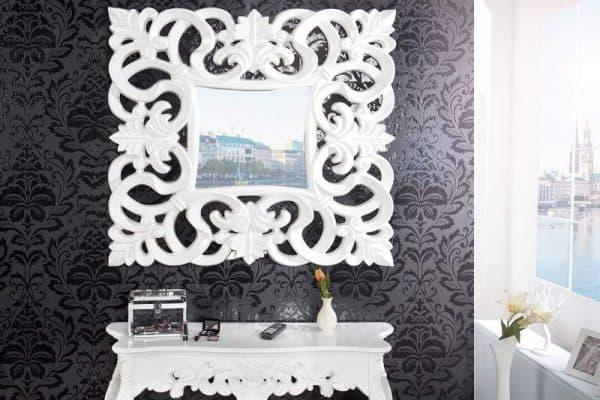 Nástenné zrkadlo Venice 75cm - biele