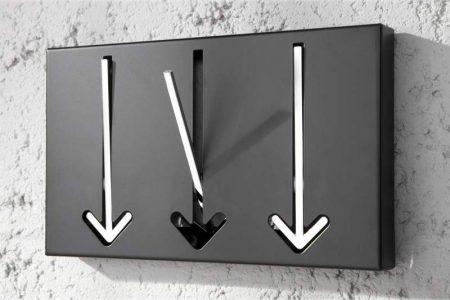 Nástenný vešiak Arrow 3 - chróm