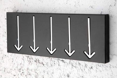Nástenný vešiak Arrow 5 - schwarz