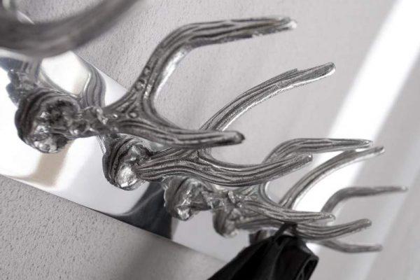 Nástenný vešiak Deer 50cm strieborná
