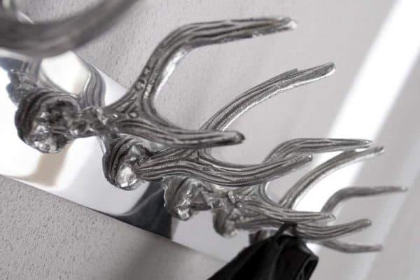 Nástenný vešiak Deer strieborná 50 cm