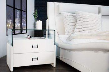 Nočný stolík Manhattan 55cm - biela