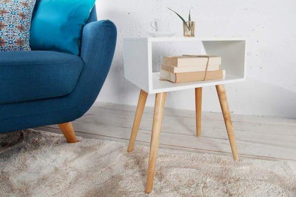 Nočný stolík Scandinavia biela dub