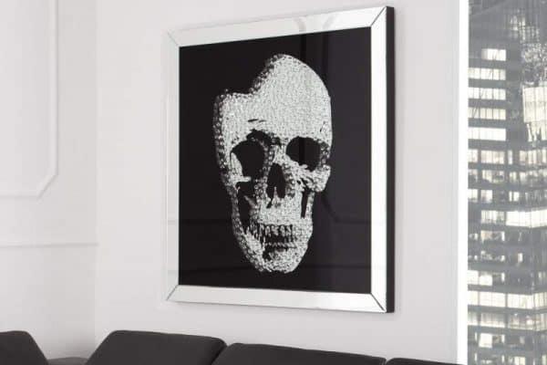 Obraz Mirror Skull 100x100cm