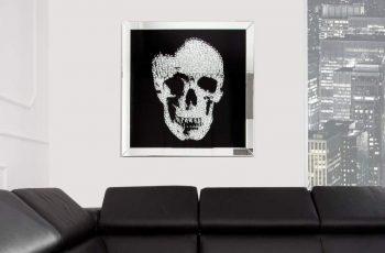 Obraz Mirror Skull 80x80cm