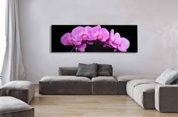 Obraz Orchidee 140x45cm ružová