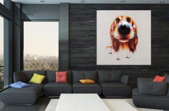 OlejomaľbaPopArt Bello 80x80cm Hund