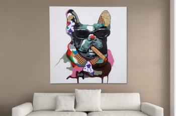 OlejomaľbaPopArt BigBoss 80x80cm Hund