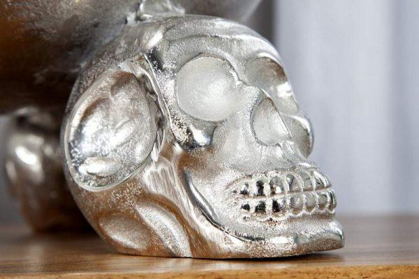 Ovocná misa Skull 35cm strieborná