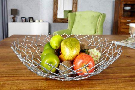 Ovocná misa Structure strieborná