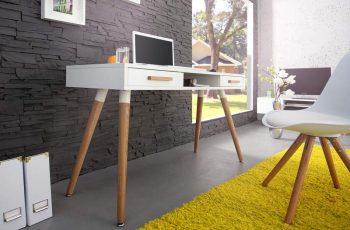 Písací stôl Scandinavia biela matná 120 cm