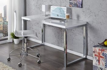 Písací stôl White Desk 120x60cm biela