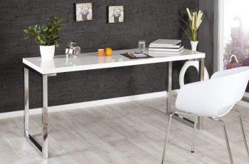 Písací stôl White Desk biela 160x60cm