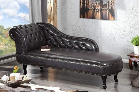 Recamiere Chesterfield - dark coffee