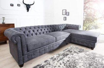 Rohová sedačka Chaise Lounge - antik sivá