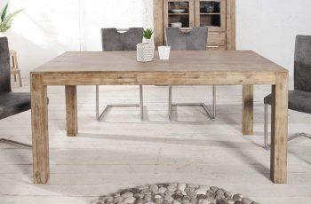 Rozkladací stôl Pure Teak šedý 90 x 160-240cm