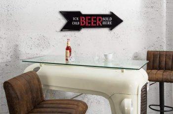 Šípka Ice Cold Beer čierna pravá 55 cm