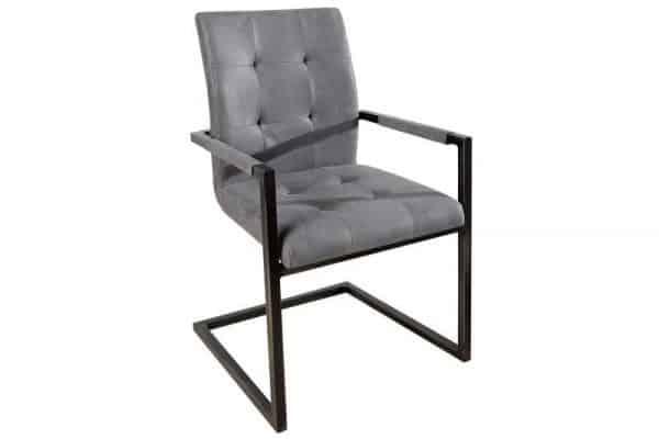 Sivá jedálenská stolička Oxford s područou »